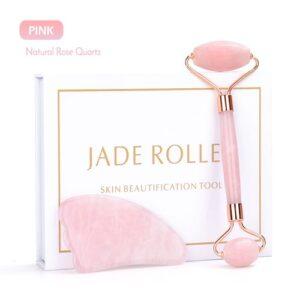 Jade Facial Massager - Pink